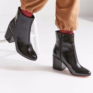 UO Margot Black Patent Boots